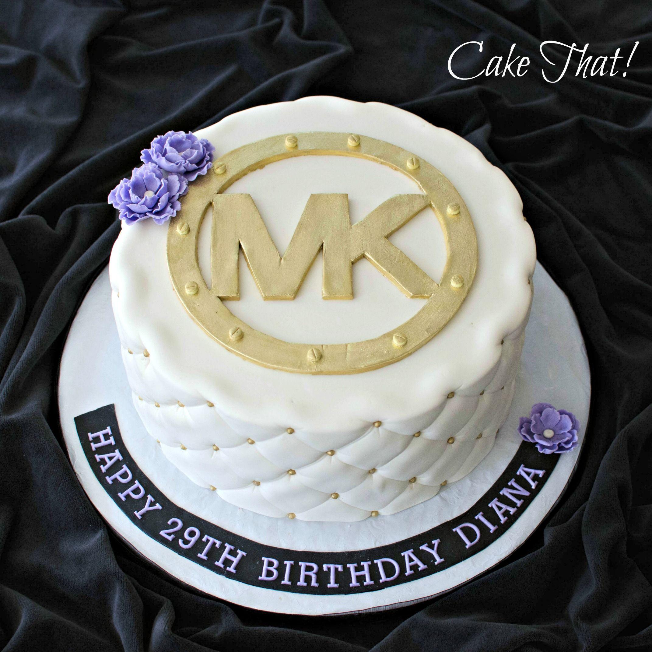 Michael Kors Boston Cream Pie Birthday Cake MK MichaelKors