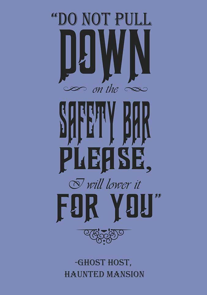 Disney Quote Posters   Disney Parks Quote Posters Haunted Mansion Halloween Party