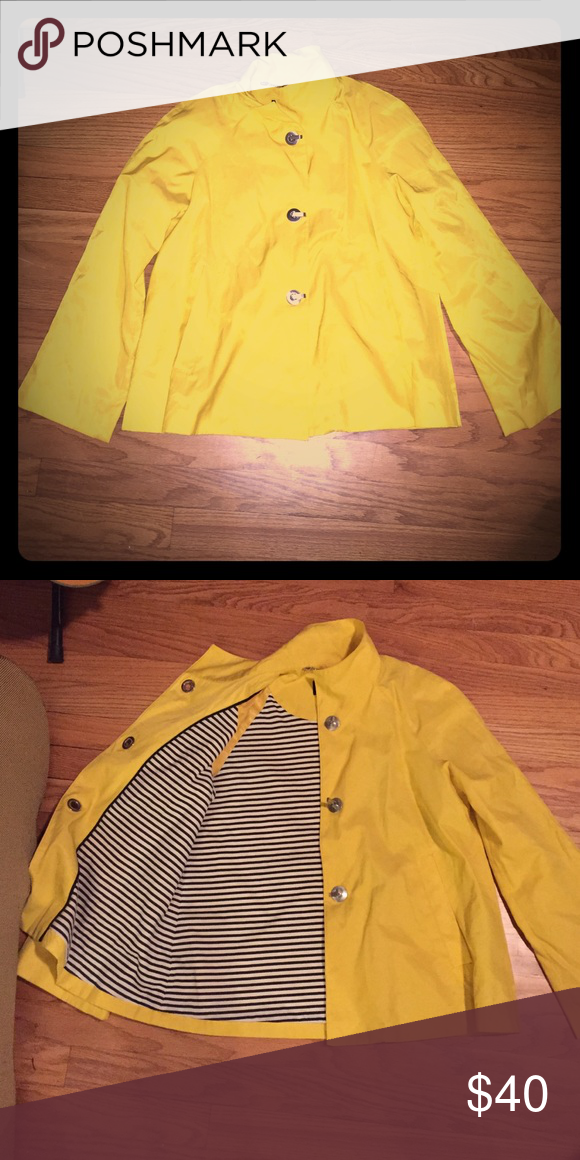 Jones New York Jacket Yellow jacket with cute lining- never worn. Jones New York Jackets & Coats