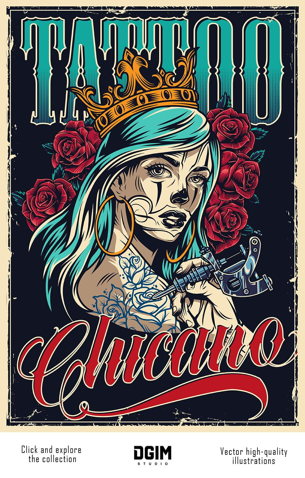60 Chicano Vector Designs In 2020 Tattoo Posters Retro Tattoos Chicano