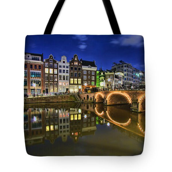 Tote Bags - Reflections Tote Bag by Nadia Sanowar