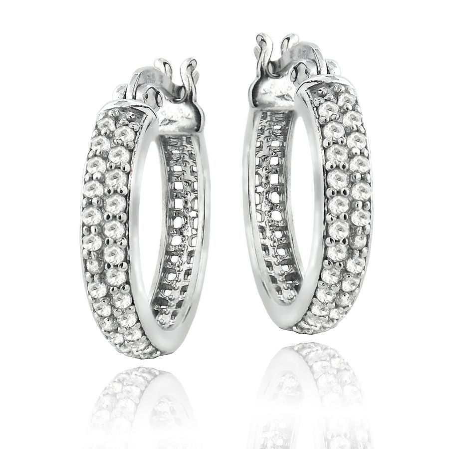 6471d6e72 Sterling Silver 0.50 CTTW Natural Diamond Hoop Earrings 884335257458  eBay#CTTW#Natural#Sterling
