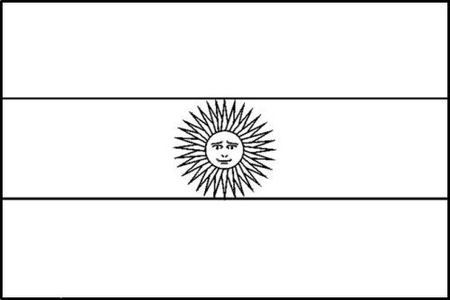 Printable Argentina Flag Coloring