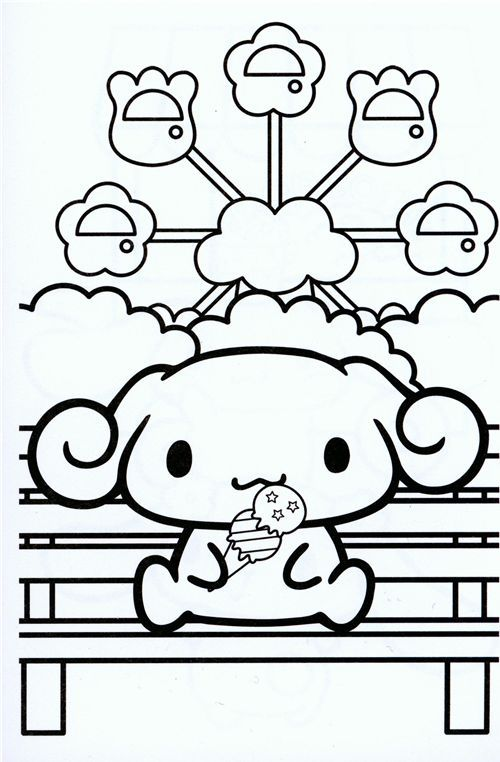 blue Cinnamoroll small coloring book Sanrio Japan | Cinnamoroll ...