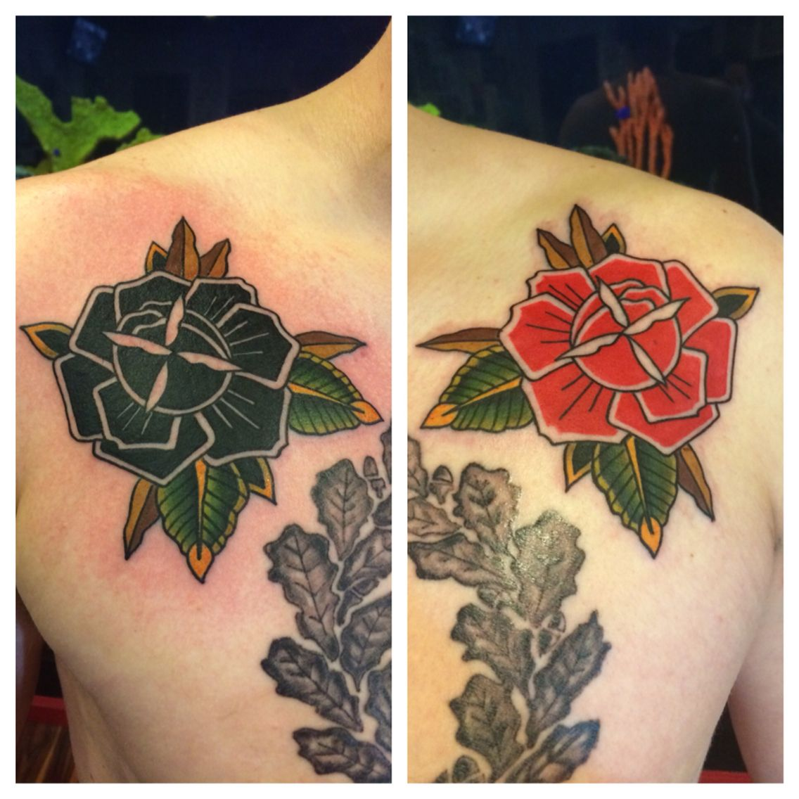 Rose Flower Tattoos By Matt Robinson Anchor Tattoo Vacaville Ca
