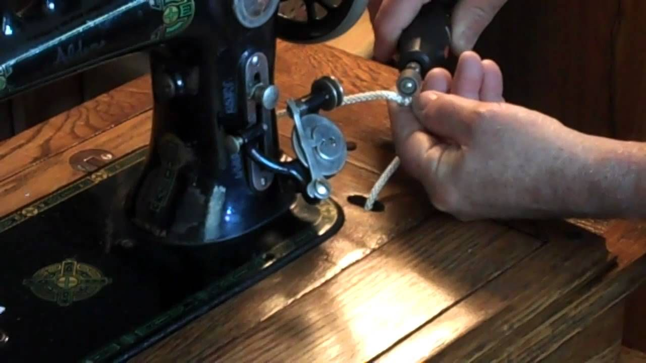 how to change belt in sewing machine