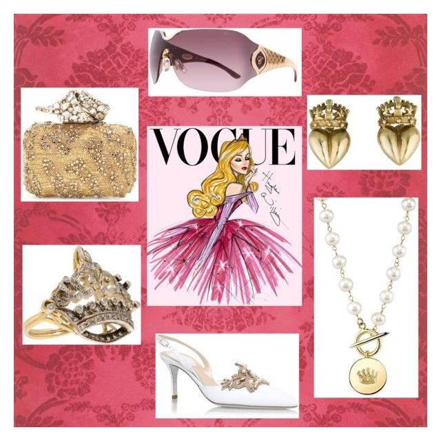 """Vogue Princess"" by polkadottielove on Polyvore featuring Disney, René Caovilla, Turner & Tatler, Chopard and Jimmy Choo"
