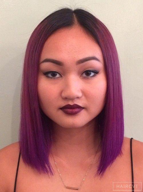 female medium dark straight