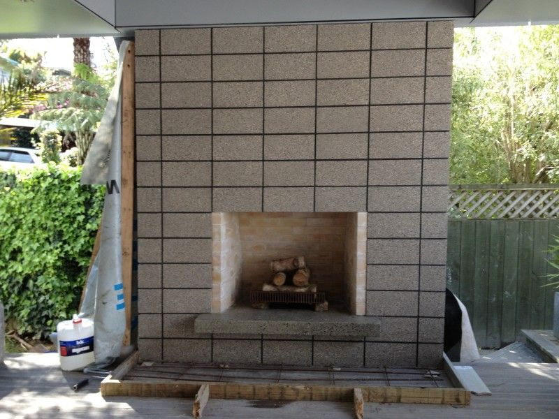 Concrete Block Outdoor Fireplace Nz Google Search Outdoor Ideas Pinterest Fire Pit Grill