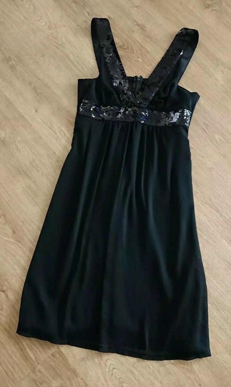 Details zu ☀ EVITA elegantes Kleid Cocktailkleid schwarz ...