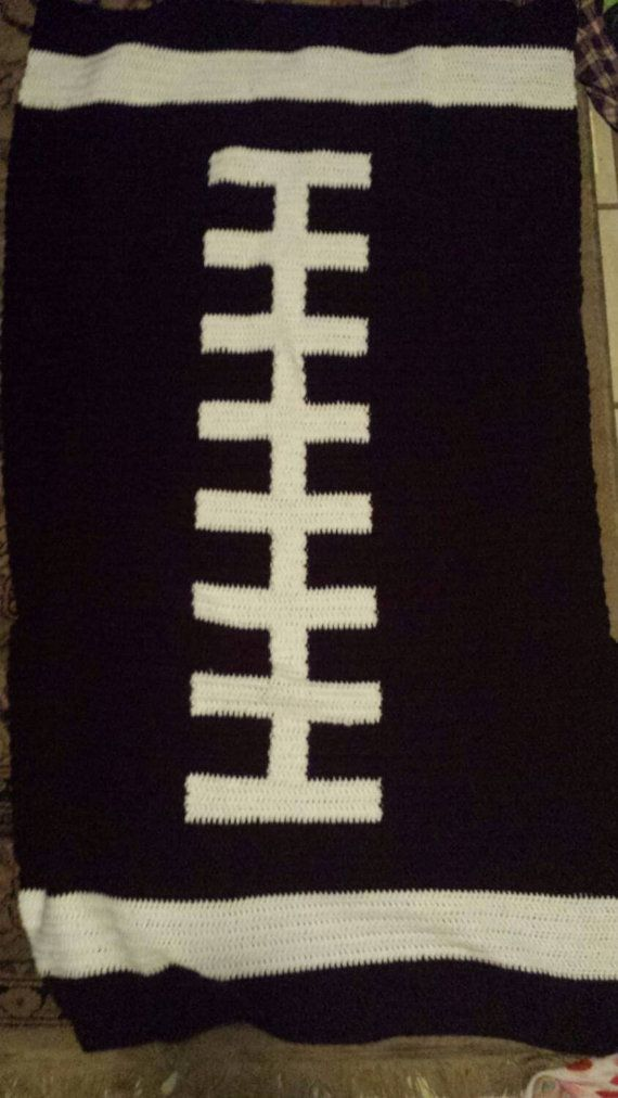 Check out this item in my Etsy shop https://www.etsy.com/listing/229836942/crochet-football-blanket