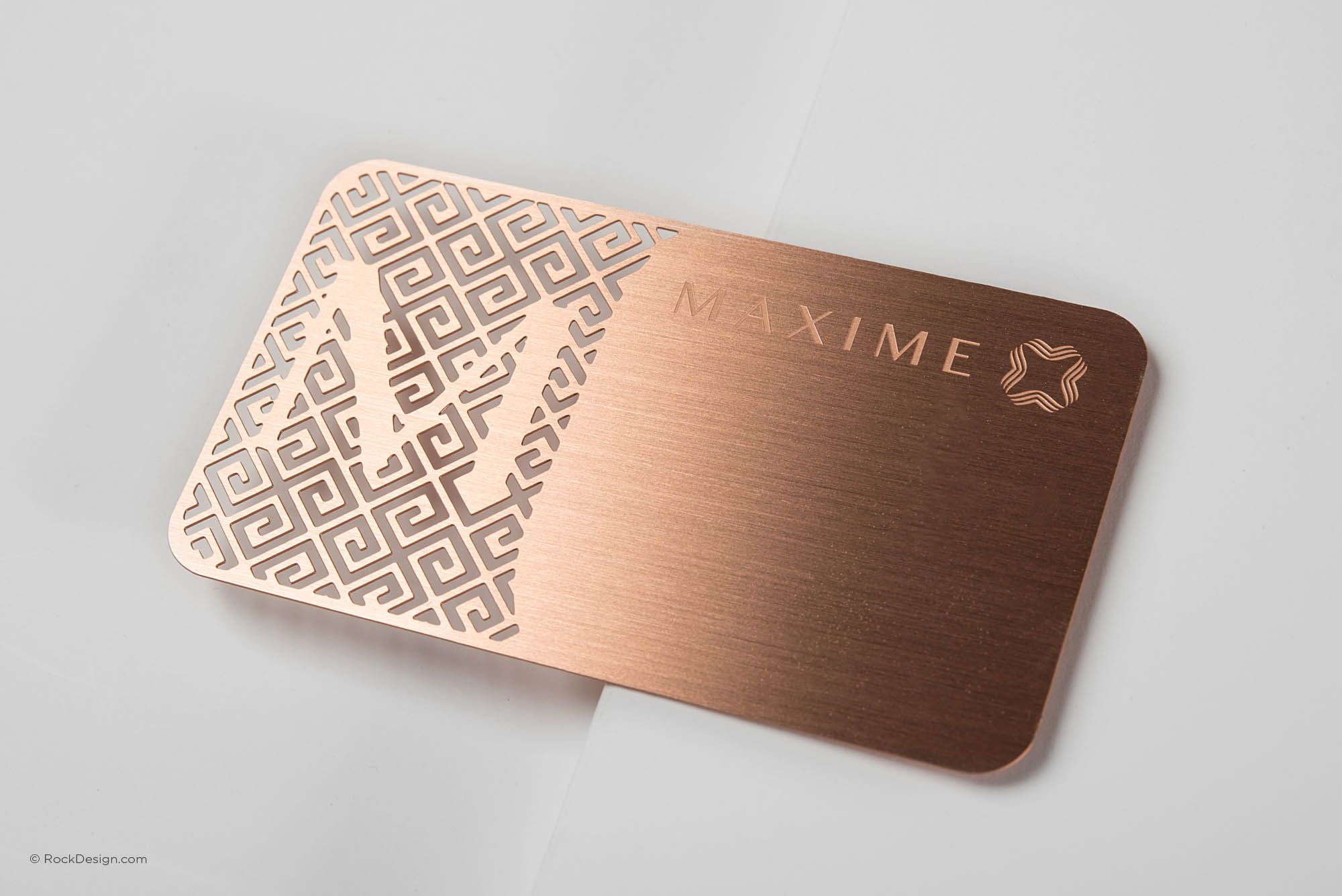 Luxury Rose Gold Metal Business Card With Brushed Finishing ...