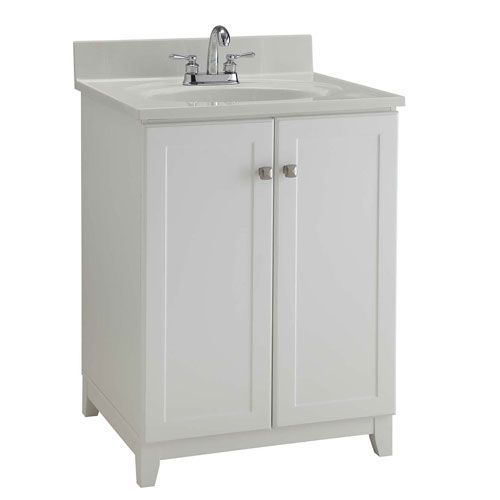 Furniture Style Vanity Cabinet 24 Inches By 21 Inches Semi Gloss