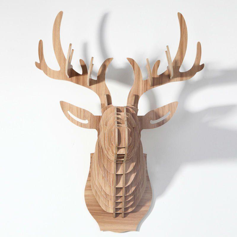 Cardboard Safari Mounted deer Trophies template - Google Search ...