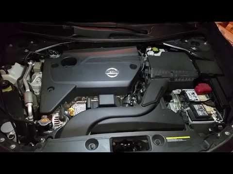 79 2017 2018 Nissan Altima How To Check Oil Dipstick Level Qr25de 2 5l I4 Engine You
