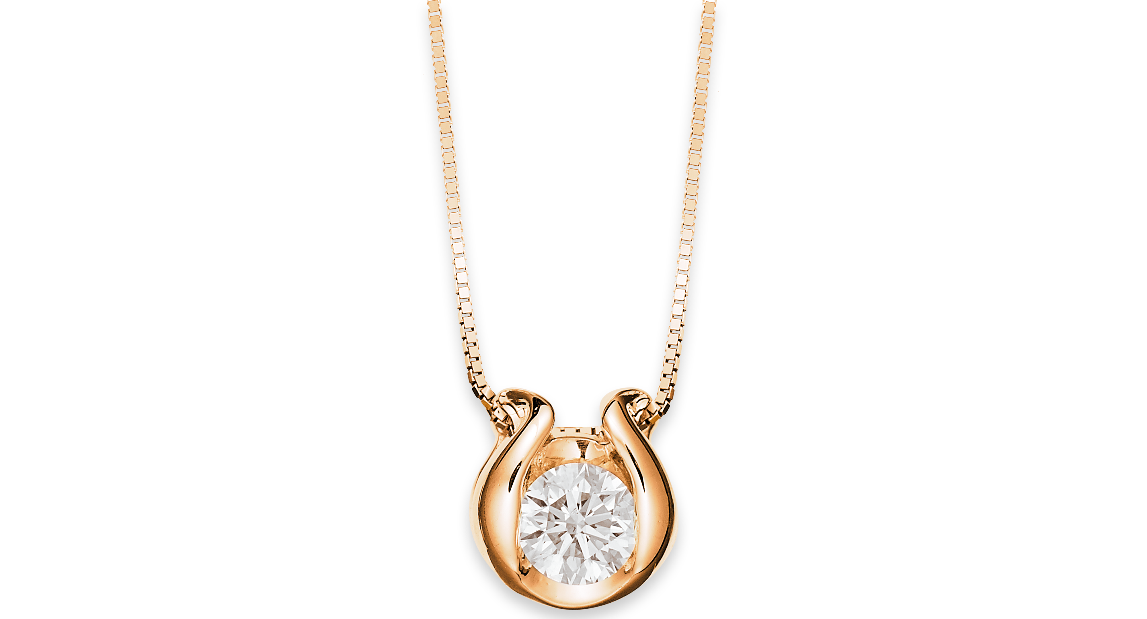 Sirena k gold necklace bezelset diamond accent pendant