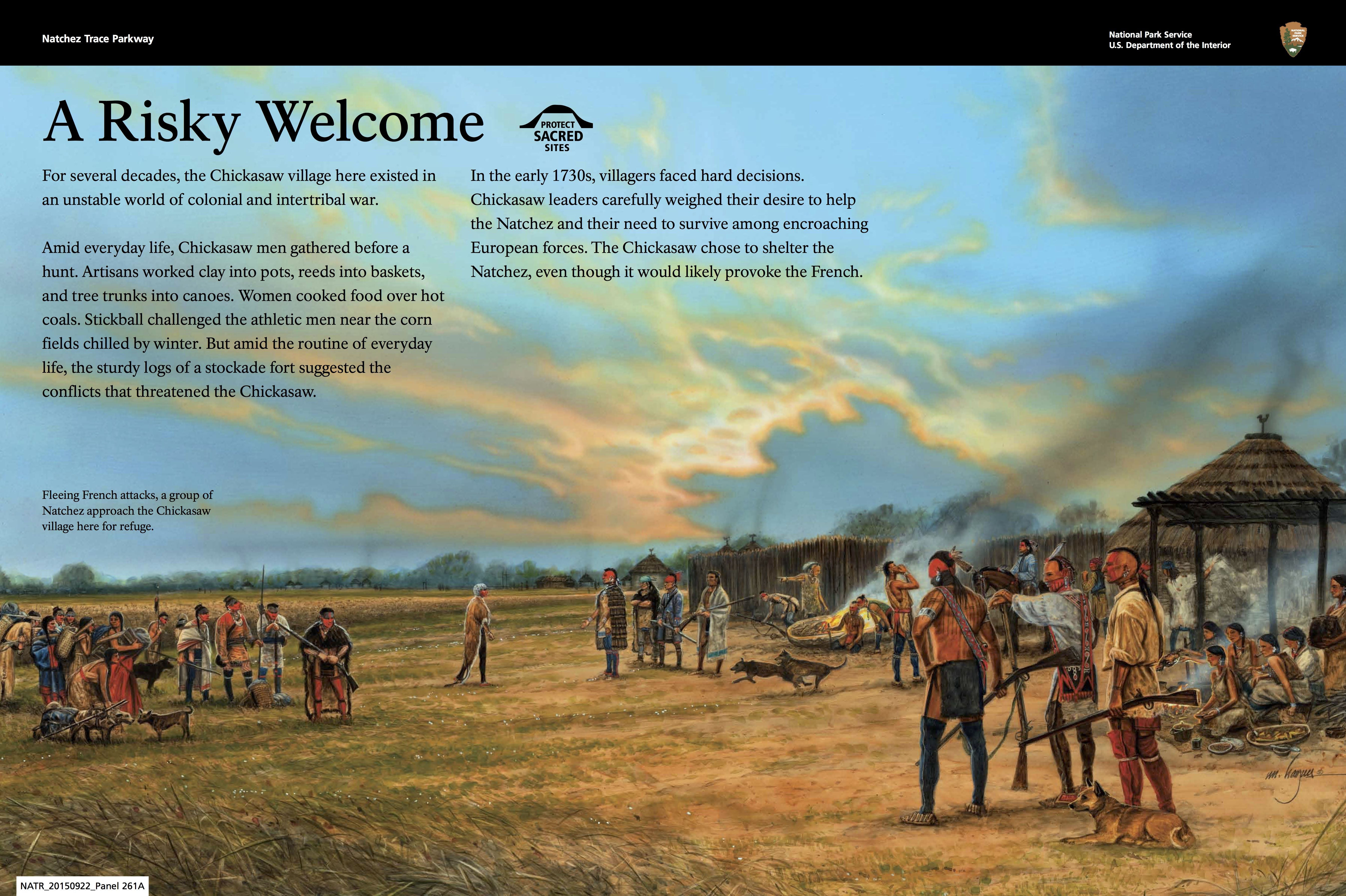 A new series of wayside exhibit panels for Natchez Trace Parkway focuses on the centuries of Indian history associated with the trace.