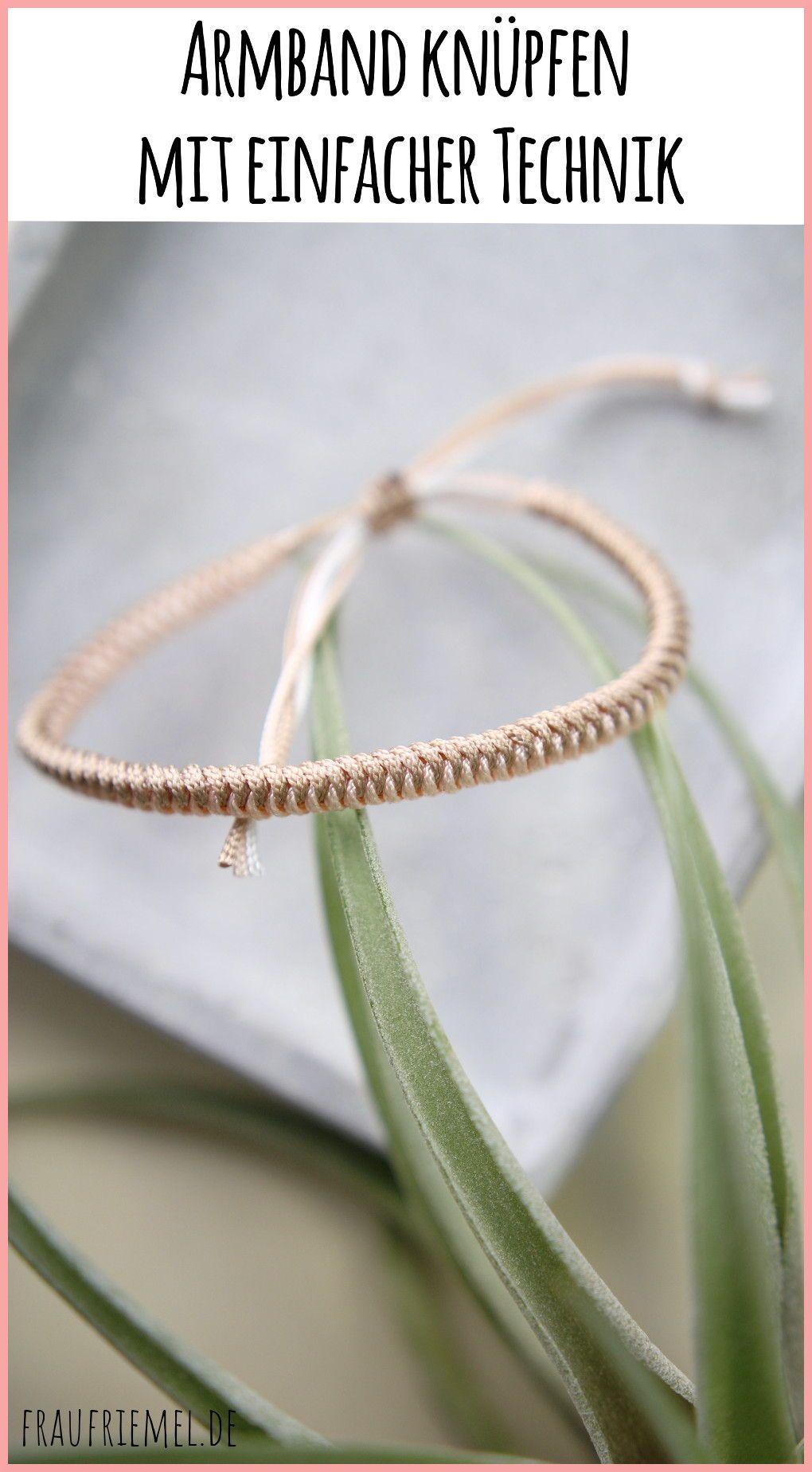 Paracord-Armband flechten - einfache Anleitung | frau friemel #geschenkideenbestefreundin