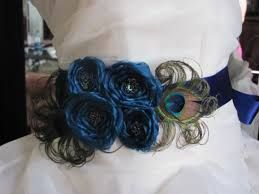 Image result for peacock feather wedding gown
