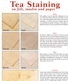 """tea staining tutorial use this technique to """"age"""" lace muslin and"""