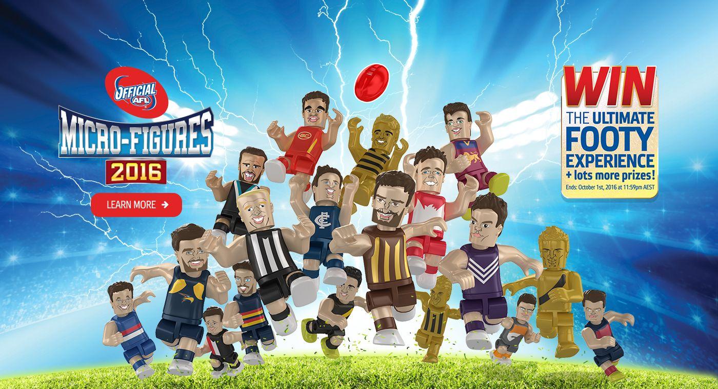 AFL Micro Figures 2016 Afl, Game design, Baseball cards