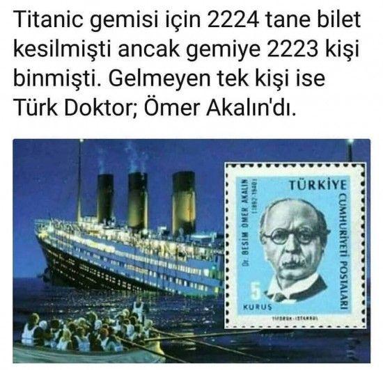 Titanik gemisine binmeyen tek yolcu... #bilimdoğa