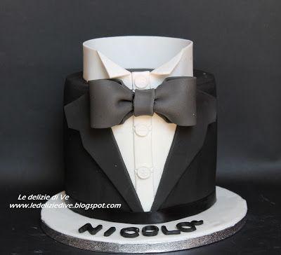 Le Delizie Di Ve 18th Smoking Cake Fashion Cake Cake Tuxedo