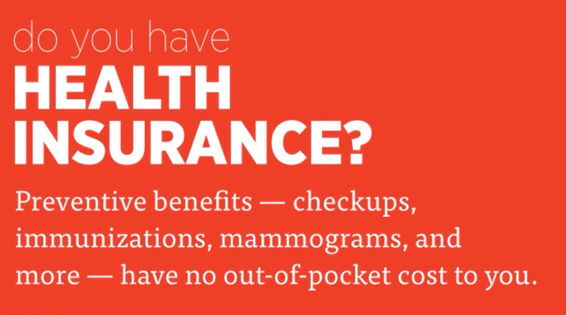 Enroll for free for health insurance through the