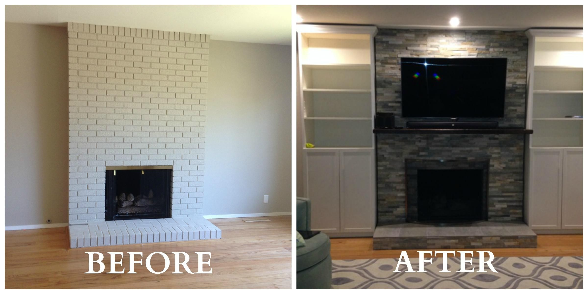 Dining Room Shelving 4 Fireplace Remodel Before And After