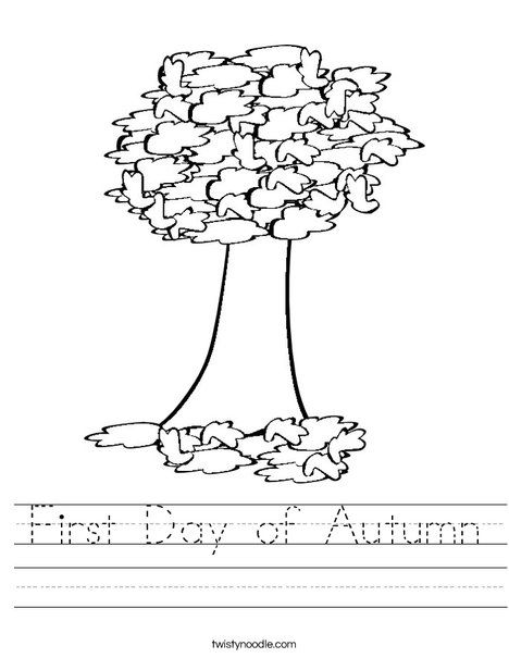 First Day Of Autumn Worksheet Fichas Fichas Ingles