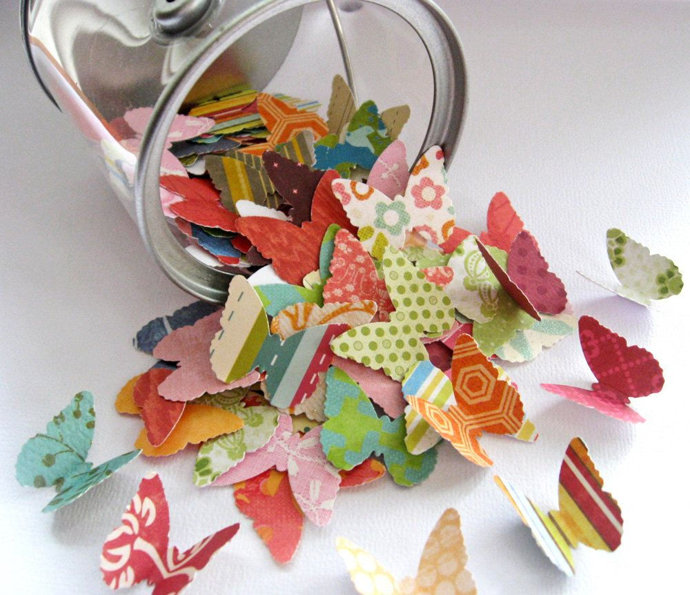 How to make scrapbook decorations - Butterfly Embellishments For Scrapbooking