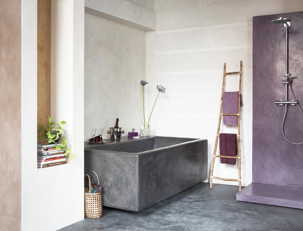 badewanne und dusche in putztechnik mehr infos unter wwwfarbefreudelebende - Fugenlose Dusche Material