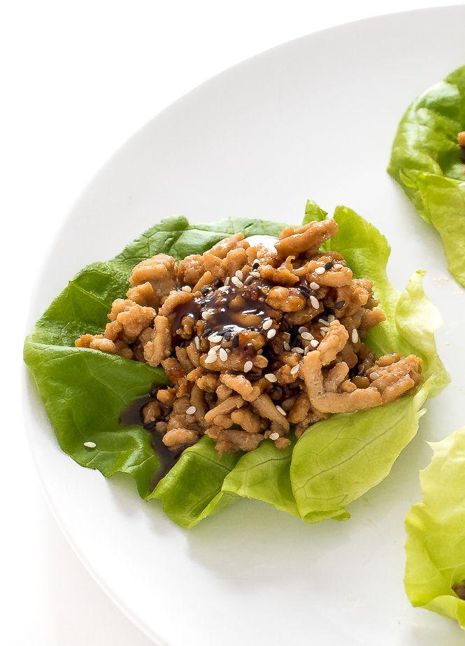 pf chang's chicken lettuce wraps  recipe  chicken