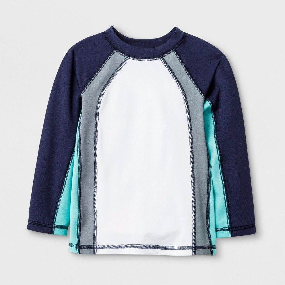 61b9dfe1e47af Your little swimmer will be set for a day of fun in the sun with the Long- Sleeve Pieced Rash Guard from Cat and Jack. Whether he's waiting for the  perfect ...
