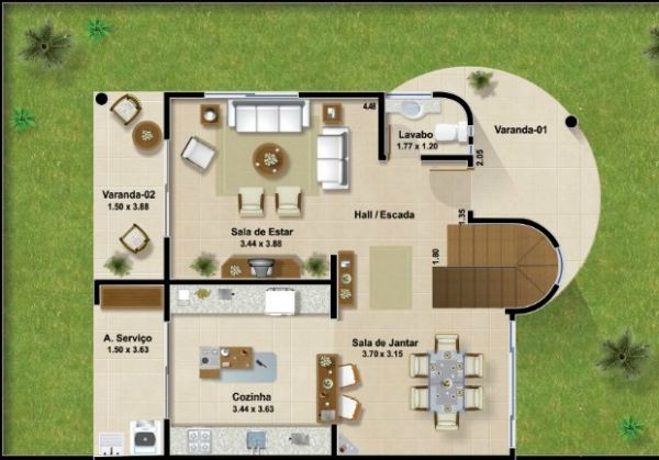 planos de casas modernas con jardin