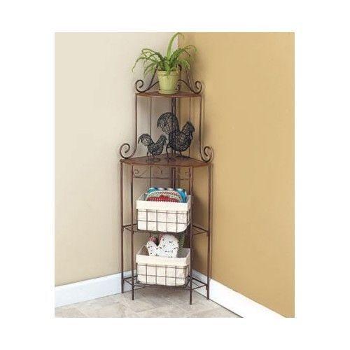 Kitchen Organizer Corner Shelf Storage Pantry Wall Shelves Basket Cool Baskets For Corner Shelves