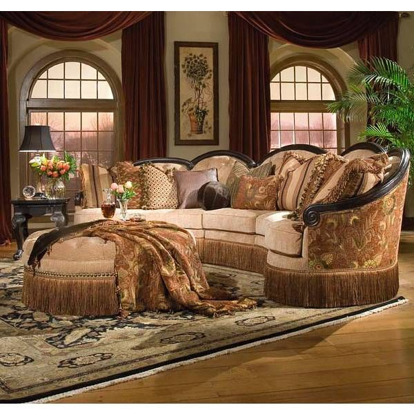 Gallery Furniture Outlet Houston: Grace Spicy 3 PC Sectional