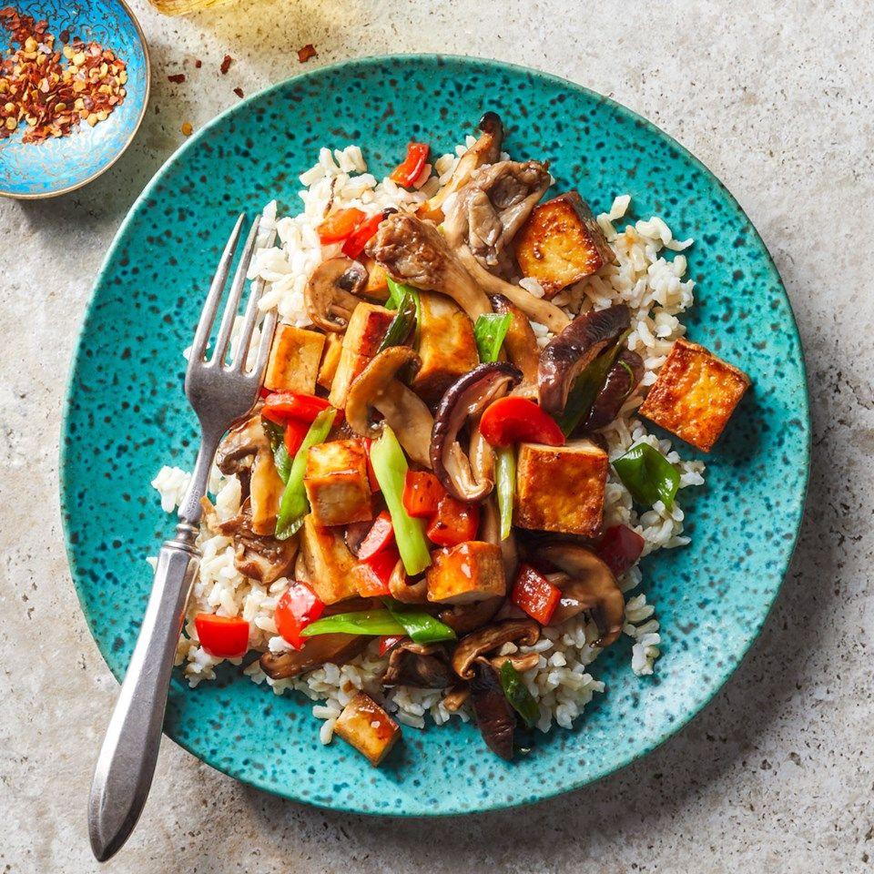 Mushroom Tofu Stir Fry Recipe Tofu Stir Fry Tofu Recipes Vegetarian Recipes
