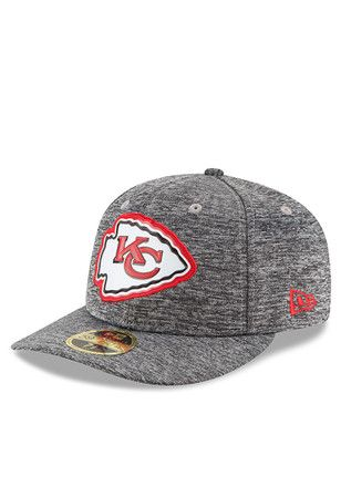newest 22d7a b67cf KC Chiefs New Era Mens Grey Bevel Team Low Profile 59FIFTY Fitted Hat