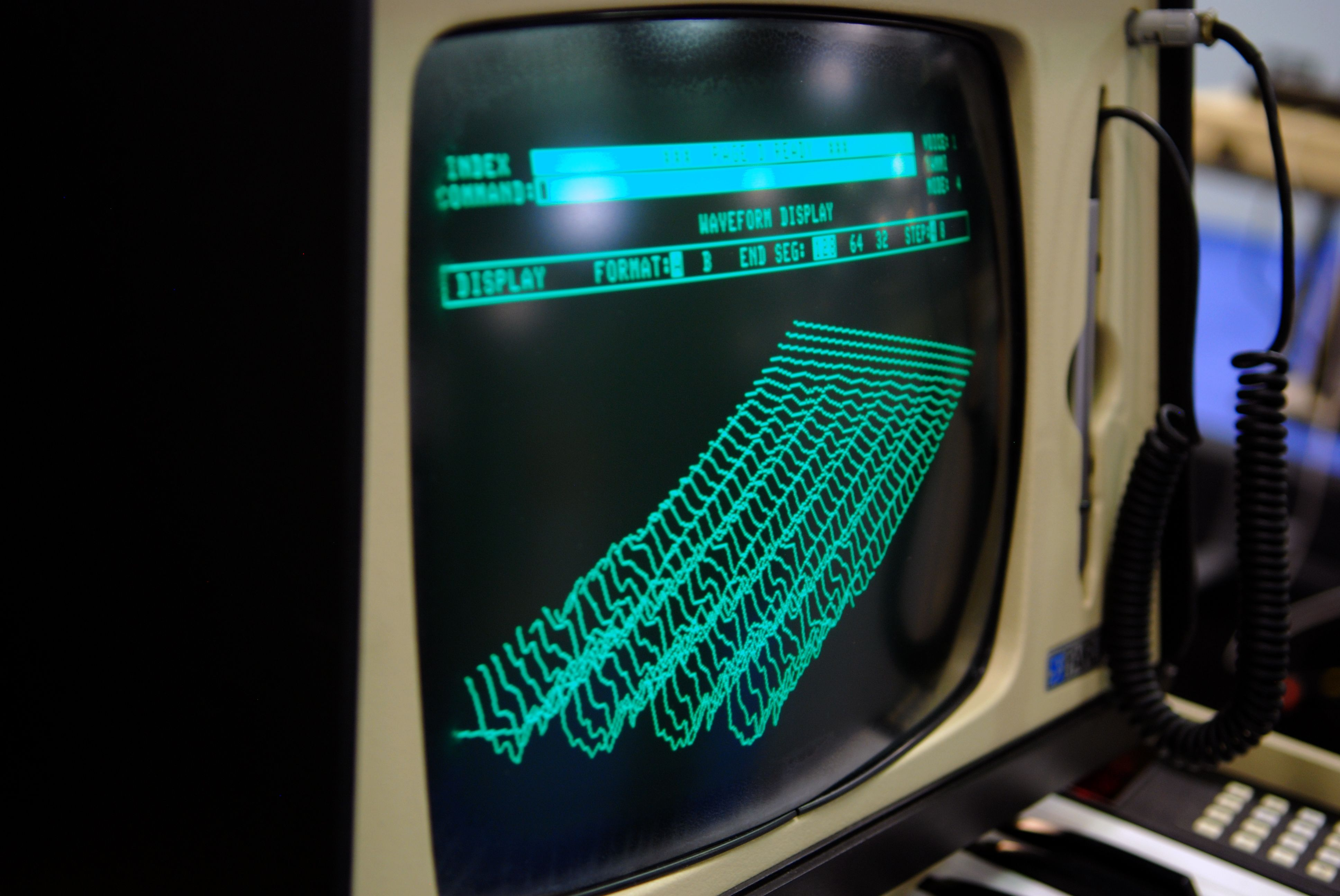 the iconic waveform display of the fairlight cmi digital sampling synthesizer as referenced in. Black Bedroom Furniture Sets. Home Design Ideas