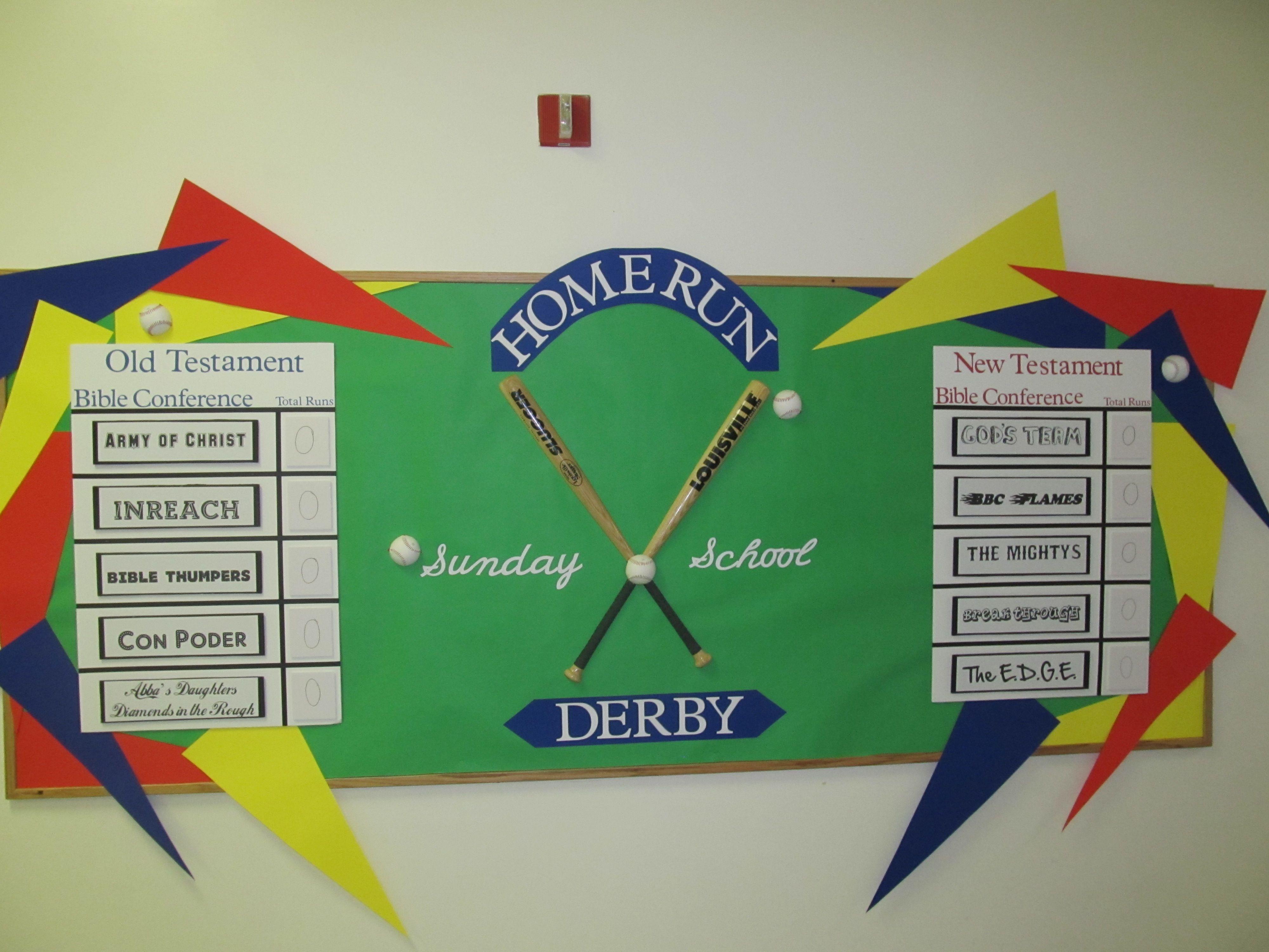 Baseball Themed Sunday School Challenge Board Bulletin