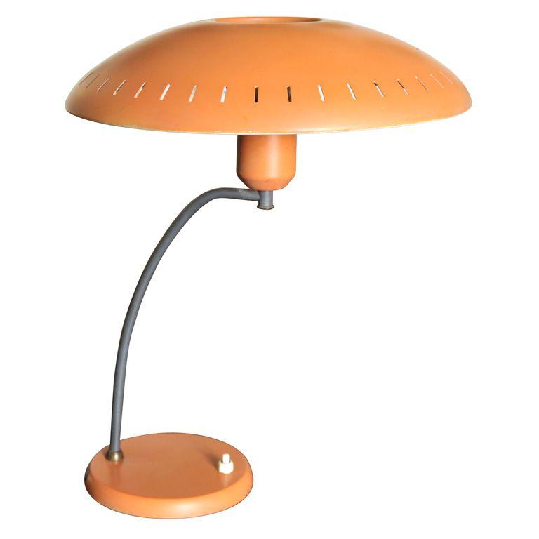 Philips Orange Tablelamp 1stdibs Com Vintage Table Lamp Table Lamp Vintage Lamps