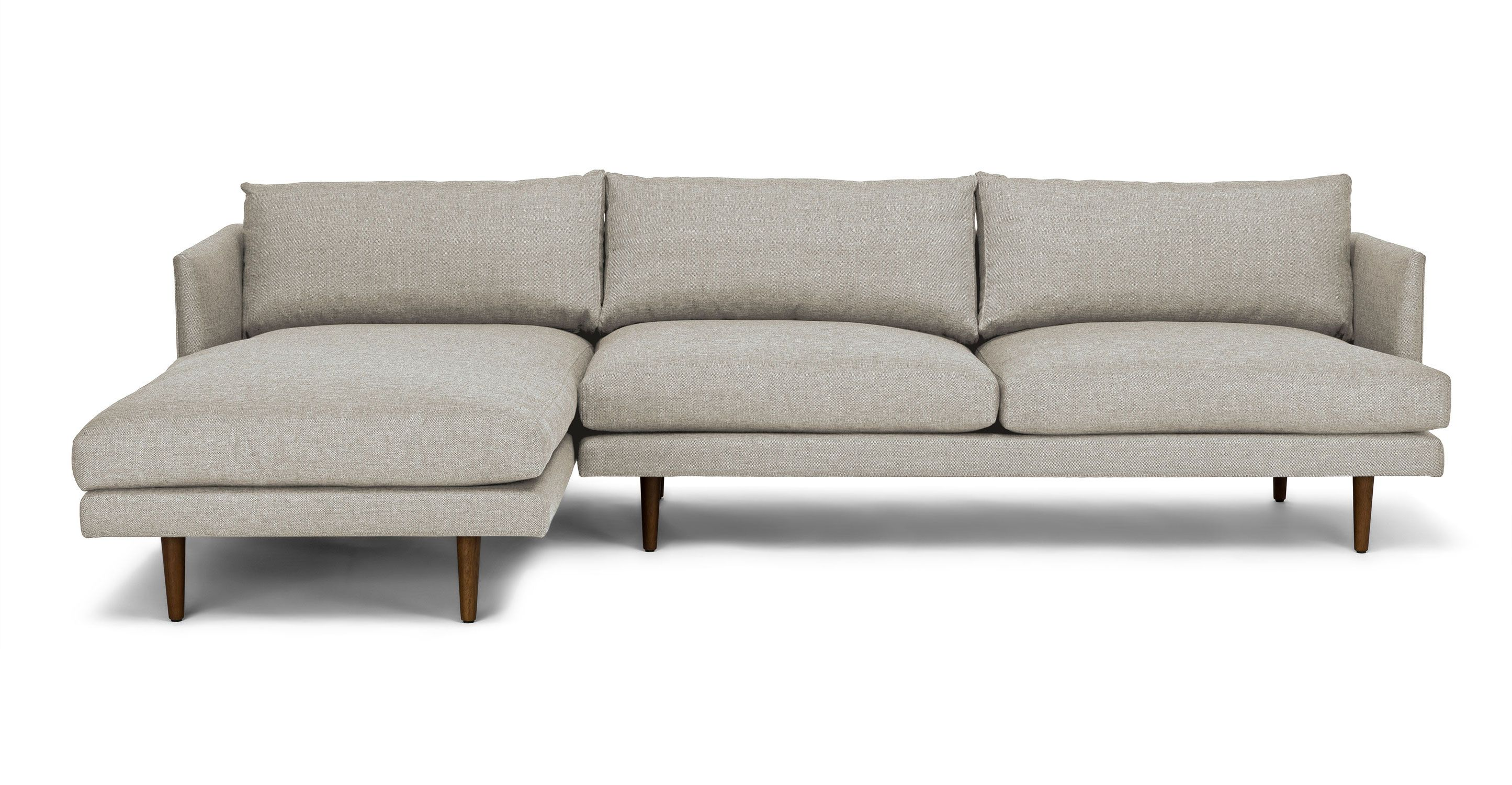 Light Grey Mid-Century Modern Sectional-Upholstered | Burrard Mid ...
