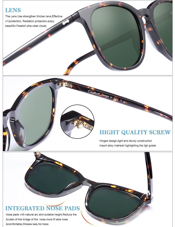 f53e0855dd Carfia Vintage Outdoor Eyewear UV400 Polarized Sunglasses for Men Driving  Travel Fishing -- Read more