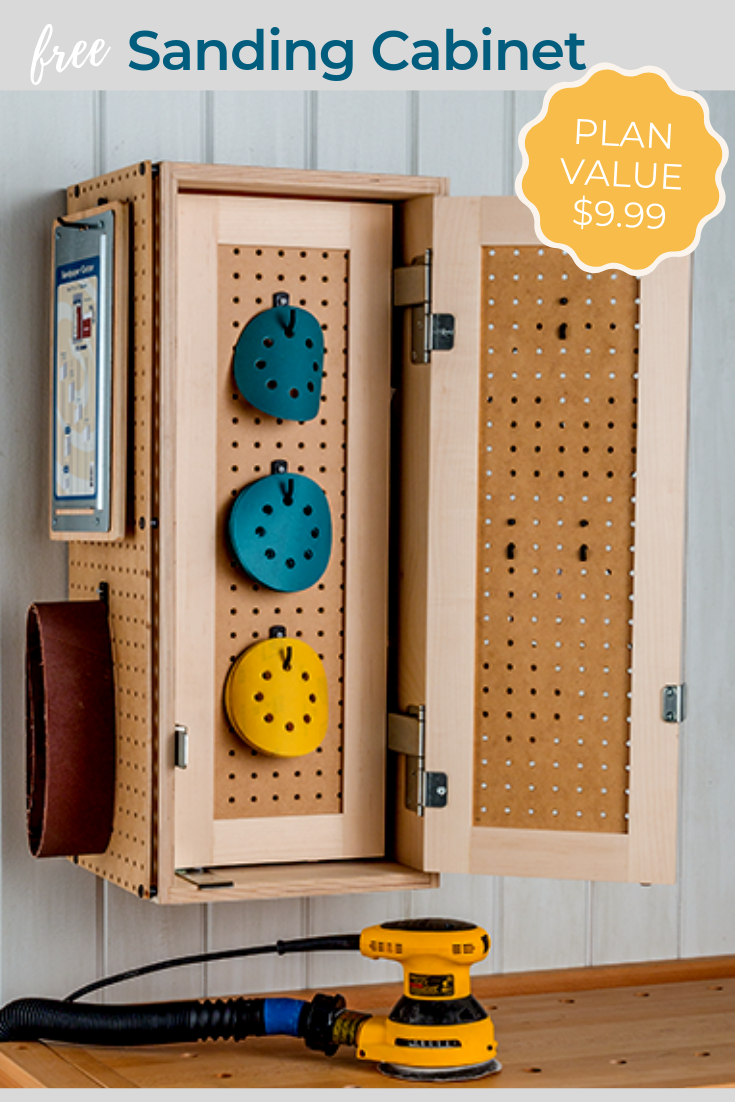 Sanding Cabinet Plan Build This Useful Cabinet That Will Keep Your Sanding Supplies Organized And Eas Cabinet Plans Adjustable Shelving Supplies Organization