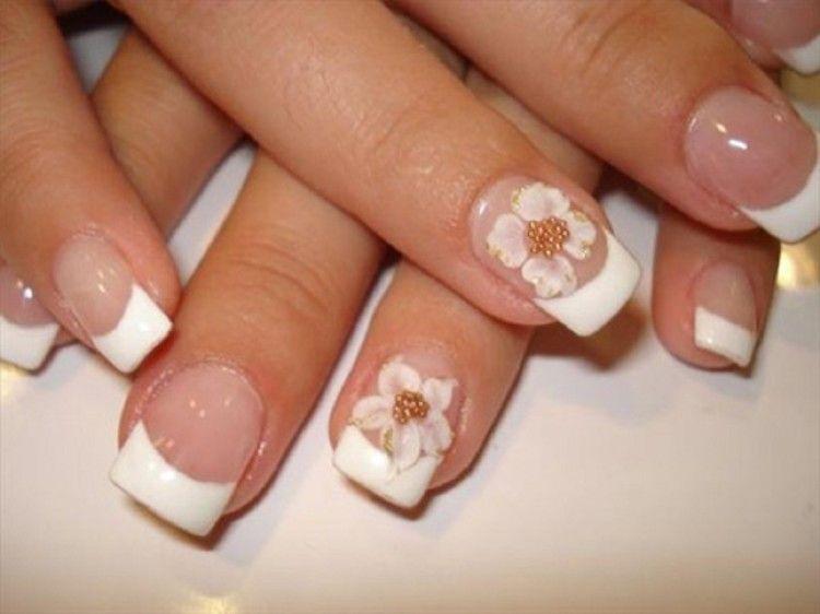 Nail Art Designs Amazing Floral Motive Wedding Bridal Nail Design