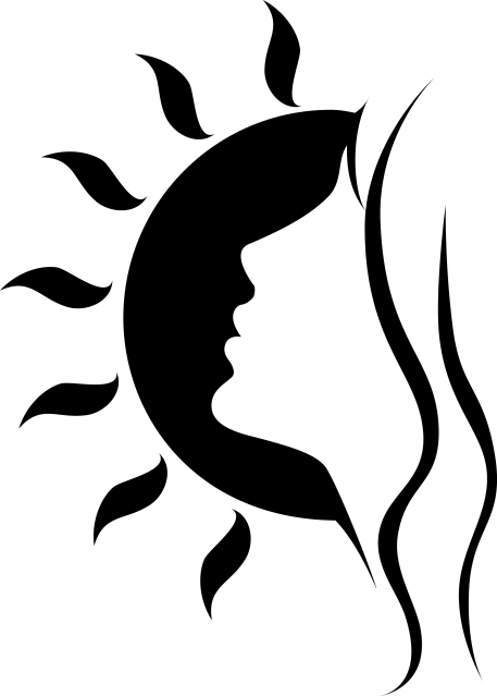 Face Of A Woman Amp Sun Removable Wall Decal Signs 4 Half Silhouette Art Stencil Art Silhouette Stencil