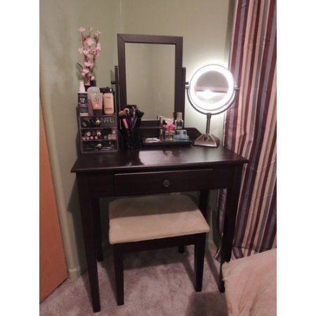 Surprising Small Space Makeup Vanity Contemporary - Ideas house ...