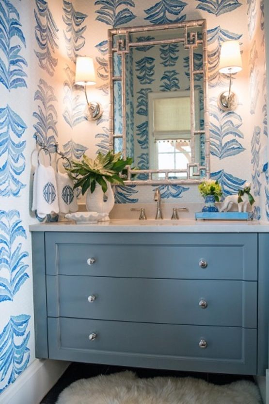 Atlanta Holiday Home Powder Room by Heather Roberts Krane
