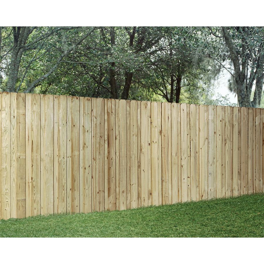 Wood Fencing Pressure Treated Board On Board 6 X 8 Panel Acq